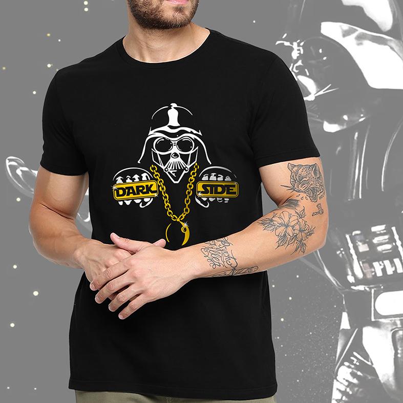 Camiseta Masculina Unissex Darth Vader Dark Side Thug Life: Star Wars (Preta) - EV