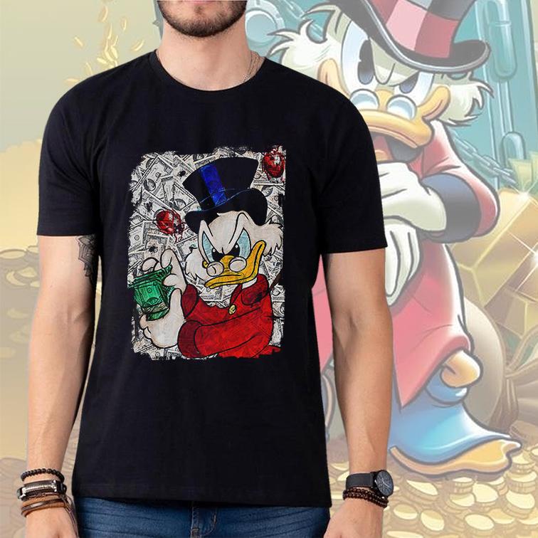 Camiseta Masculina Unissex Duck Tales Counts His Money Tio Patinhas (Preta) - EV