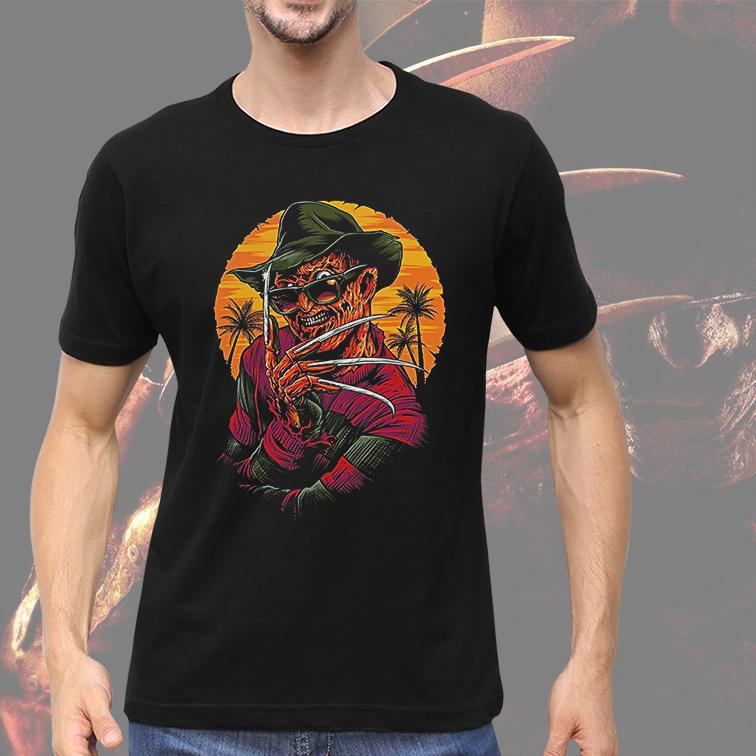 Camiseta Masculina Unissex Freddy Krueger Its Summertime (Preta) - EV