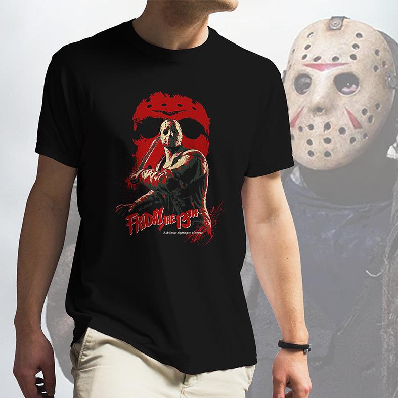 Camiseta Masculina Unissex Friday The 13th 24 Hour Nightmare Of Terror Jason Sexta Feira 13 (Preta) - EV