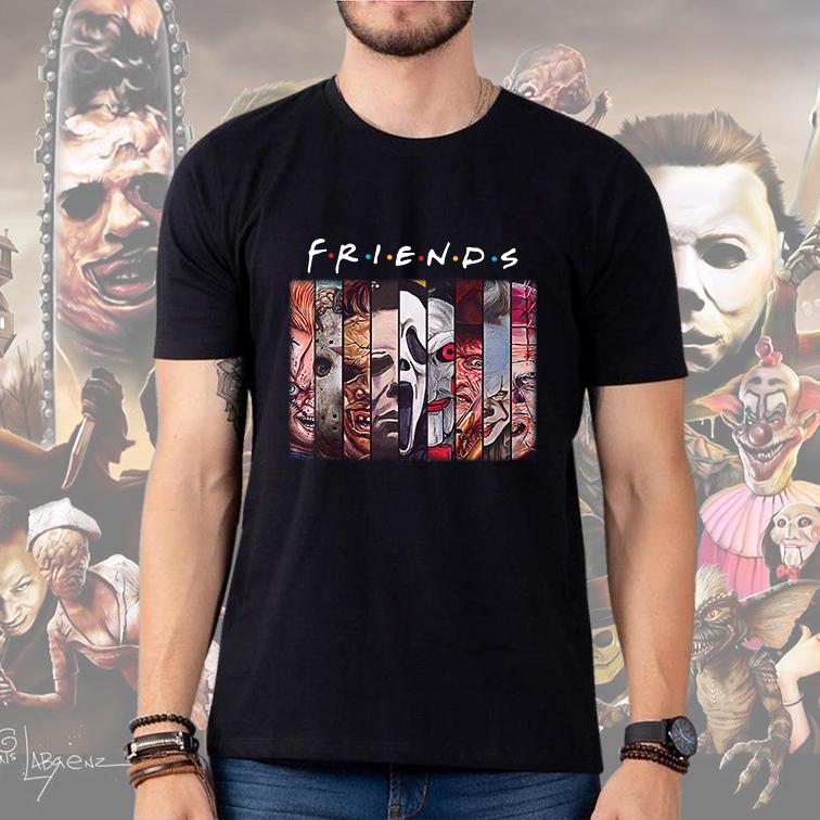 Camiseta Masculina Unissex Friends Halloween Horror Characters (Preta) - EV