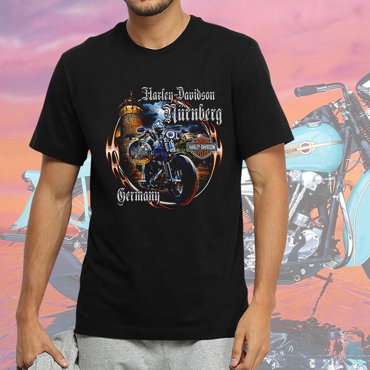 Camiseta Masculina Unissex Germany: Harley Davidson Cycles (Preta) - EV