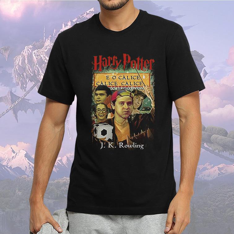 Camiseta Masculina Unissex Harry Potter E O Cálice Cálice Você Me Deixa Louco Chaves (Preta) - EV