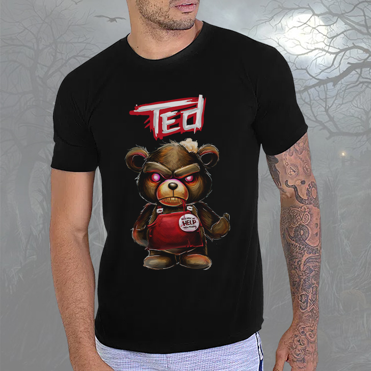 Camiseta Masculina Unissex How May We Help You Today Urso Ted (Preta) - EV