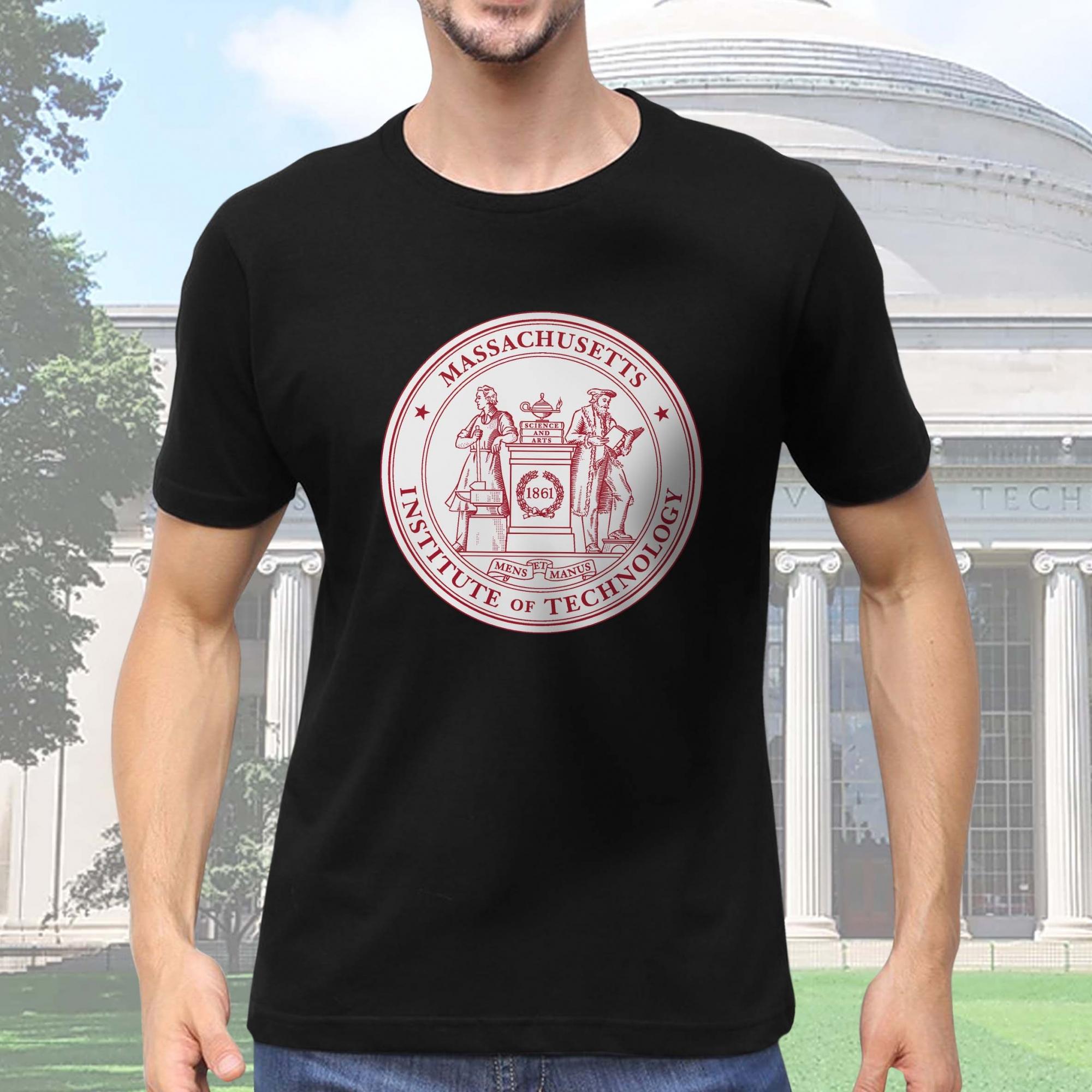 Camiseta Masculina Unissex Instituto de Tecnologia de Massachusetts Institute of Technology Cambridge (Preta) - EV