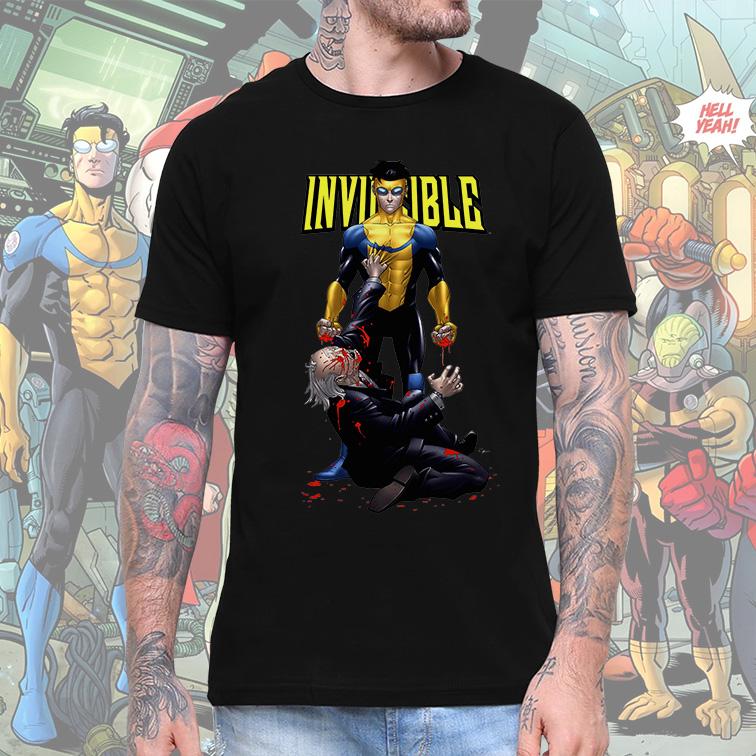 Camiseta Masculina Unissex Invincible Universe DC Superhero (Preta) - EV