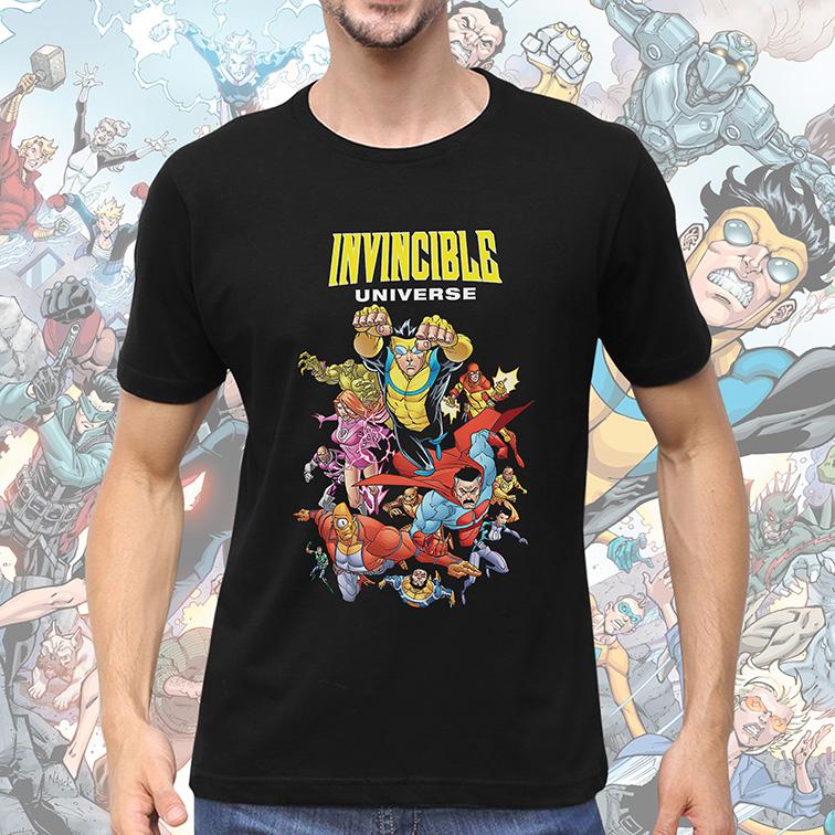 Camiseta Masculina Unissex Invincible Universe (Preta) - EV
