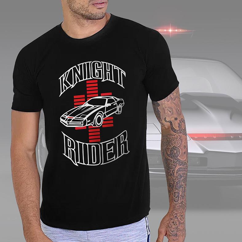 Camiseta Masculina Unissex Knight Rider Car (Preta) - EV