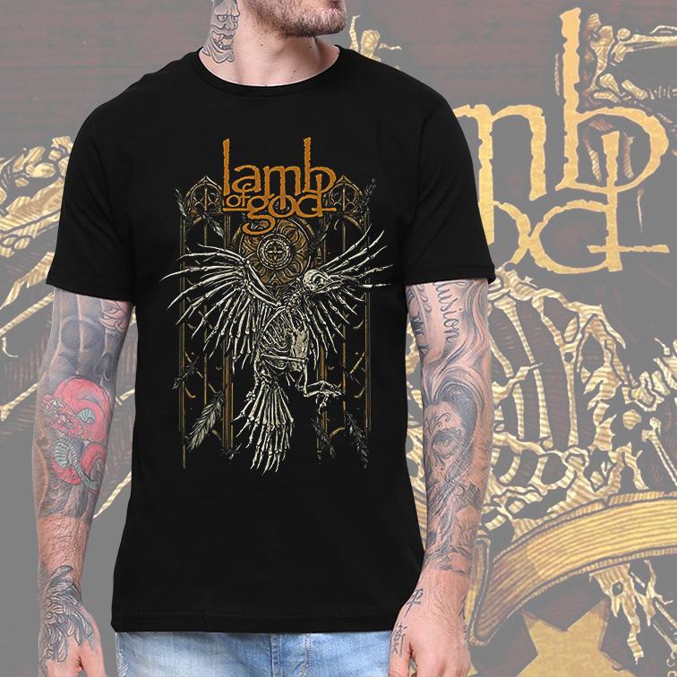 Camiseta Masculina Unissex Lamb Of God Heavy Metal (Preta) - EV