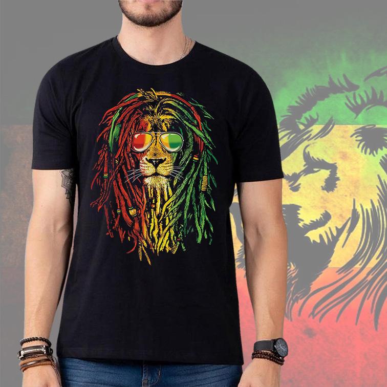 Camiseta Masculina Unissex Leão De Jah Reggae Music (Preta) - EV