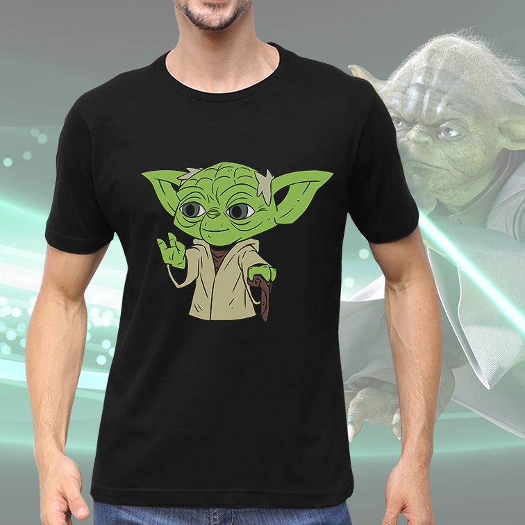 Camiseta Masculina Unissex Master Yoda Mestre Yoda: Star Wars (Preta) - EV