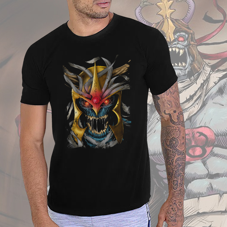 Camiseta Masculina Unissex Mumm-Ra Supervilão: ThunderCats (Preta) - EV