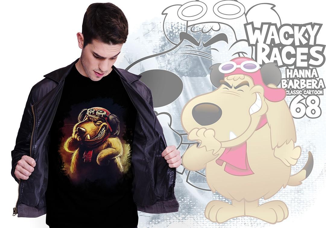 Camiseta Masculina Unissex Mutley: Dick Vigarista (Preta) - EV