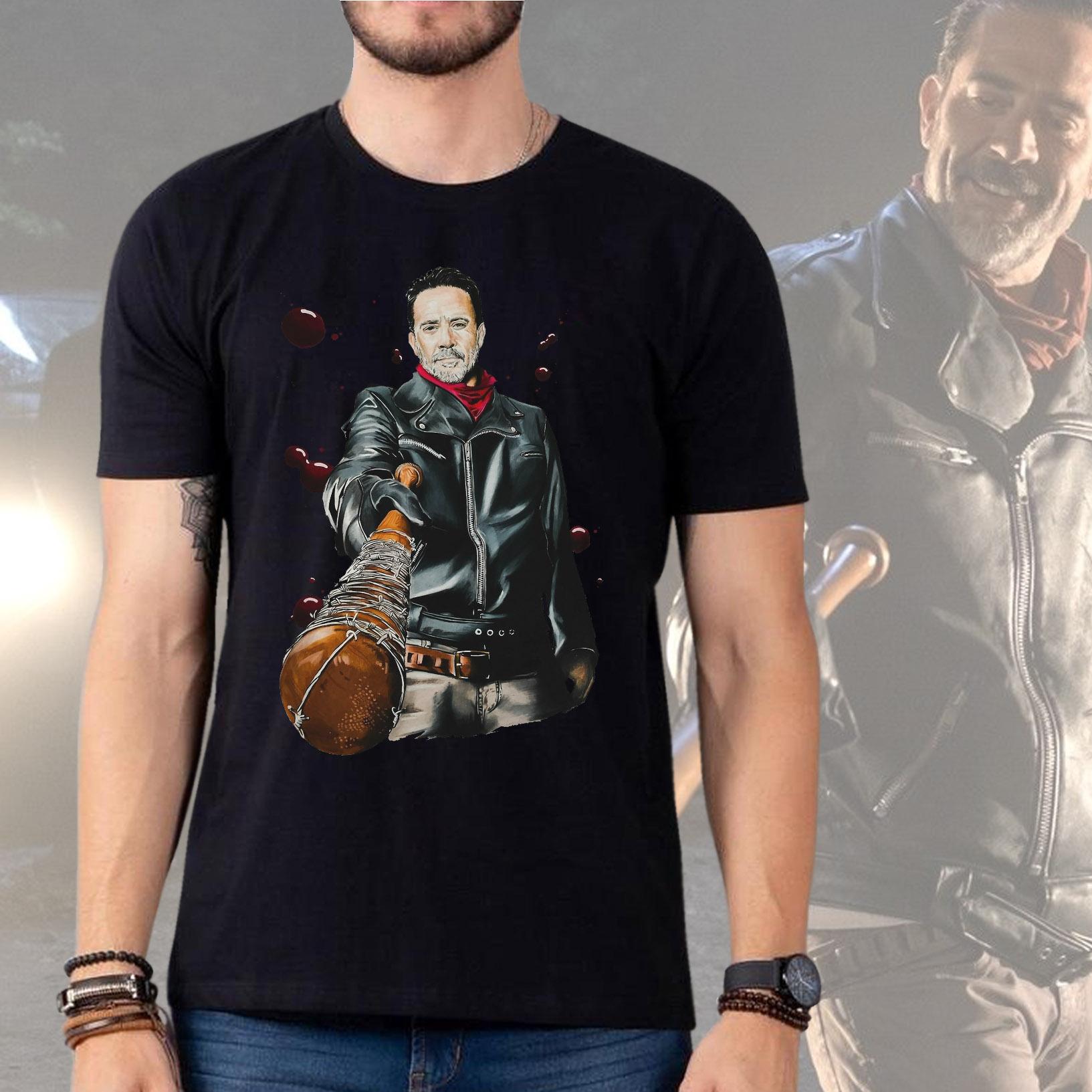 Camiseta Masculina Unissex Negan Lucille: The Walking Dead (Preta) - EV