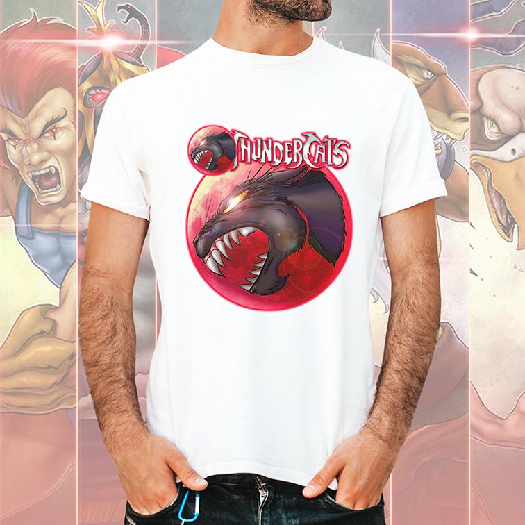 Camiseta Masculina Unissex Olho De Thundera: Thundercats (Branca) - EV