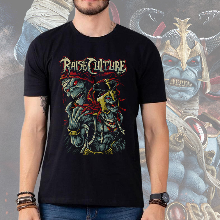 Camiseta Masculina Unissex Raise Culture Mumm-Ra Supervilão: ThunderCats (Preta) - EV