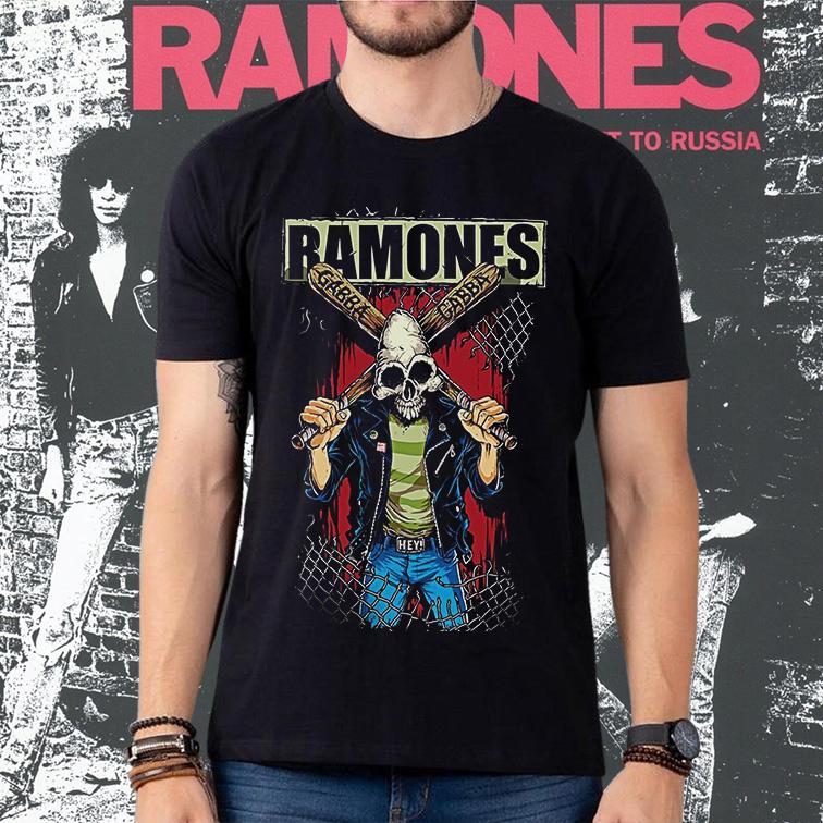 Camiseta Masculina Unissex Ramones Punk Rock Queens (Preta) - EV