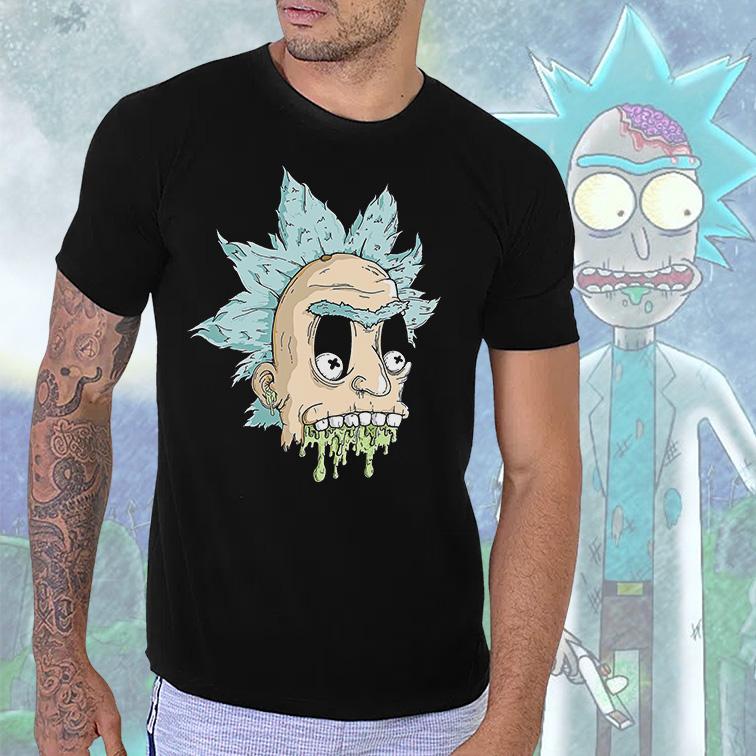 Camiseta Masculina Unissex Rick And Morty Zombie (Preta) - EV