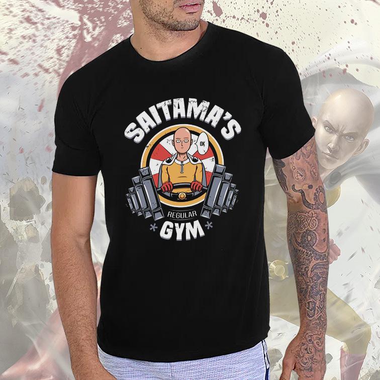 Camiseta Masculina Unissex Saitama's GYM Regular (Preta) - EV