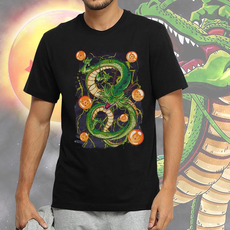 Camiseta Masculina Unissex Shenlong E As Esferas do Dragão: Dragon Ball Z (Preta) - EV