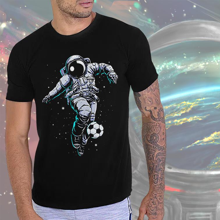 Camiseta Masculina Unissex Space Nasa Football Astronauts Astronauta (Preta) - EV
