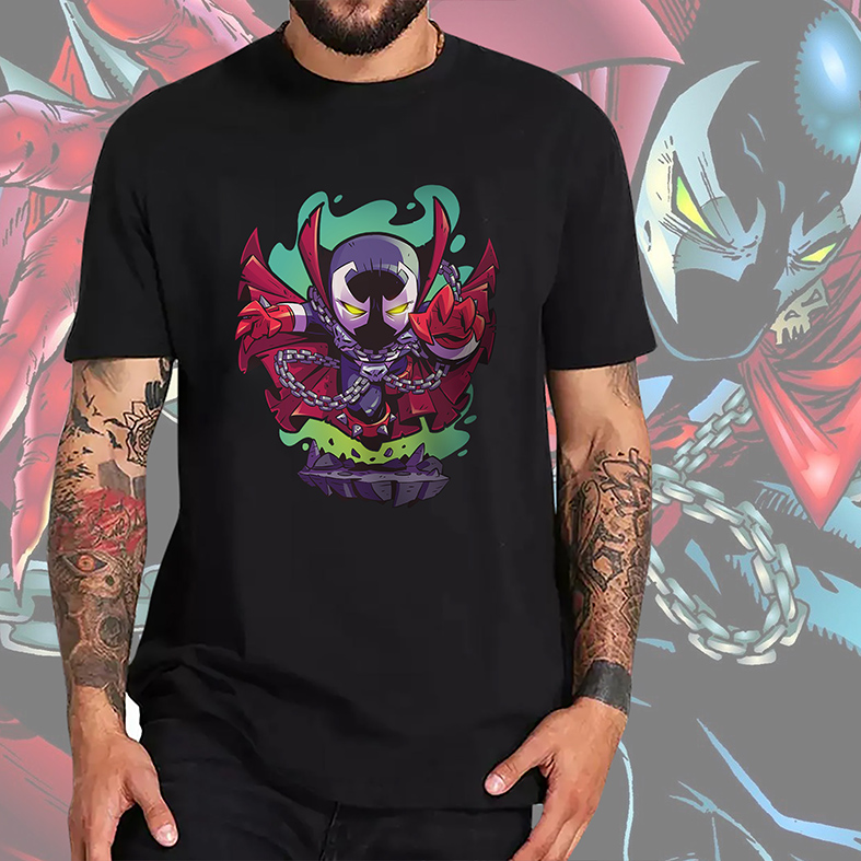 Camiseta Masculina Unissex Spawn O Soldado Do Inferno Animação Cartoon (Preta) - EV