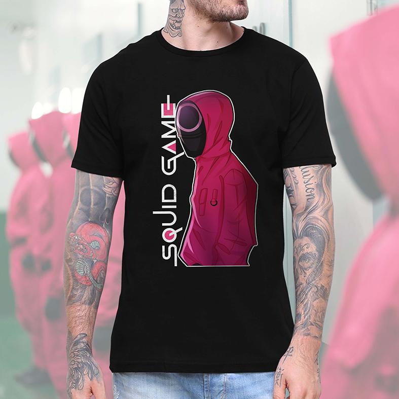 Camiseta Masculina Unissex Squid Game Round 6 Netflix (Preta) - EV