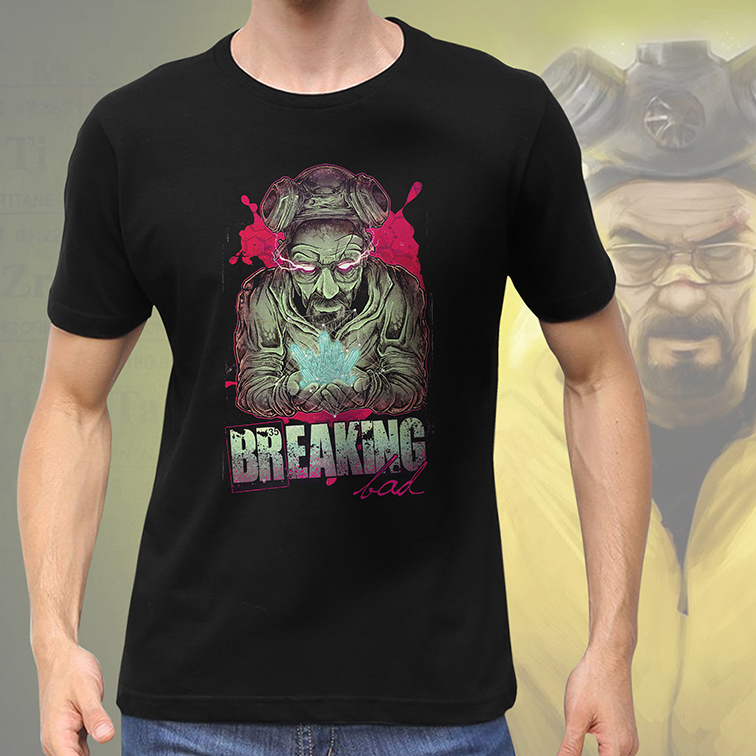 Camiseta Masculina Unissex Sr Walter White: Breaking Bad (Preta) - EV