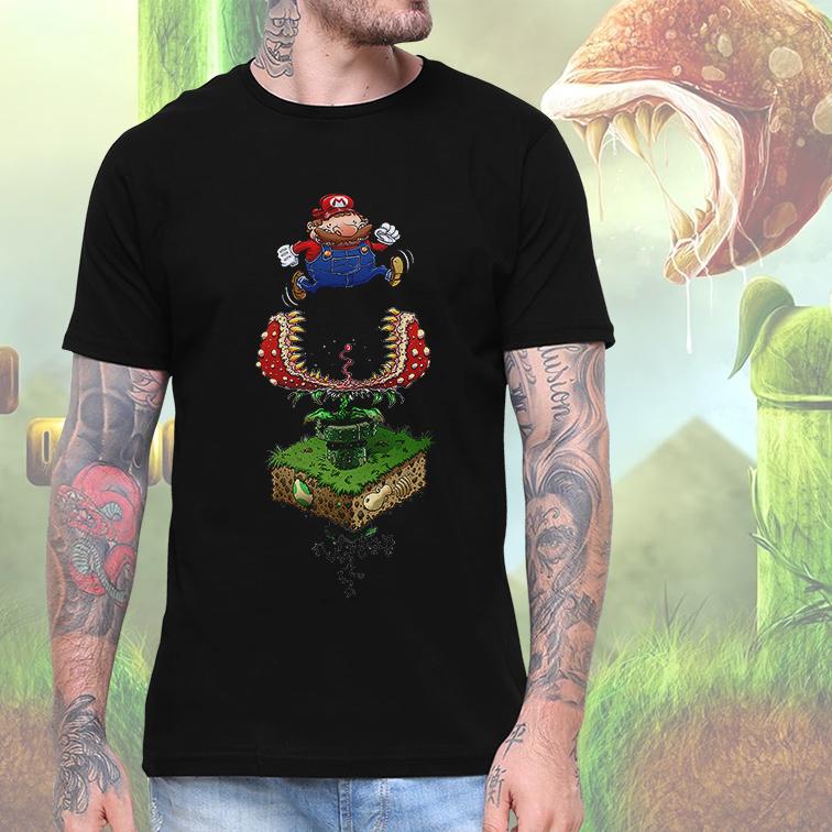 Camiseta Masculina Unissex Super Mario Planta Carnivora (Preta) - EV
