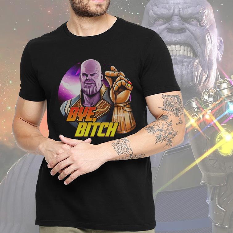 Camiseta Masculina Unissex Supervillain Thanos Bye Bitch Marvel Comics (Preta) - EV