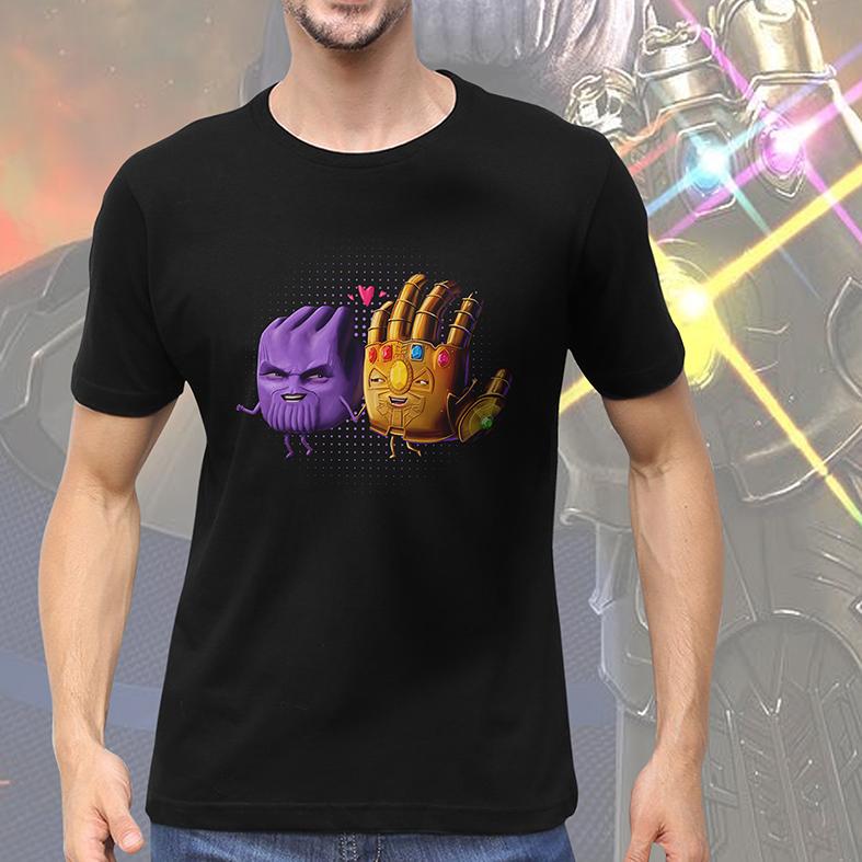 Camiseta Masculina Unissex Thanos S2 Manopla Cartoon Vingadores Marvel (Preta) - EV