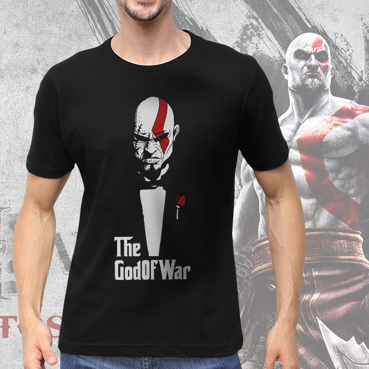Camiseta Masculina Unissex The GodOfWar Kratos The Godfather (Preta) - EV