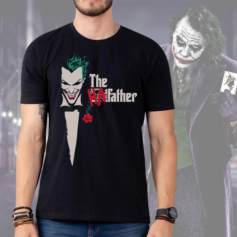 Camiseta Masculina Unissex The HaFather Joker Coringa The Godfather (Preta) - EV