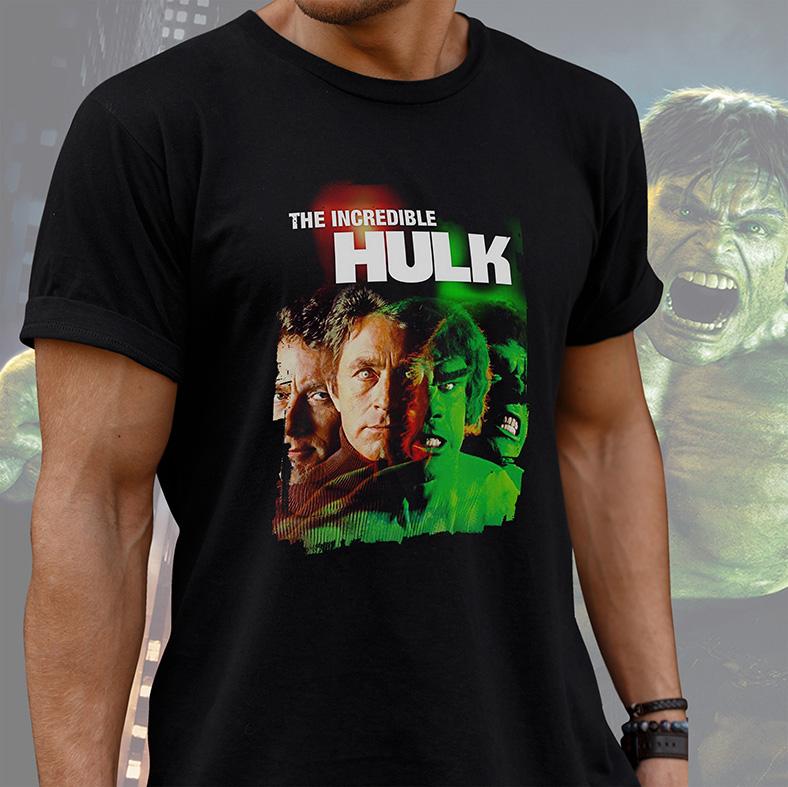 Camiseta Masculina Unissex The Incredible Hulk Movie O Incrível Hulk Marvel (Preta) - EV