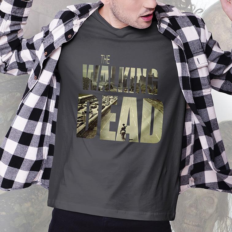 Camiseta Masculina Unissex The Walking Dead (Cinza Chumbo) - EV