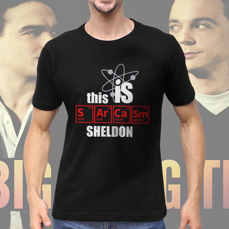 Camiseta Masculina Unissex This Is Sarcasm Sheldon The Big Bang Theory (Preta) - EV