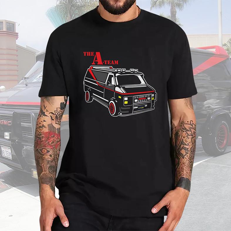 Camiseta Masculina Unissex Van The A-Team Esquadrão Classe A (Preta) - EV