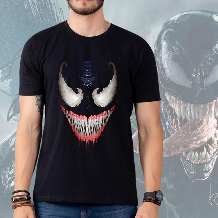 Camiseta Masculina Unissex Venom Marvel Comics (Preta) - EV