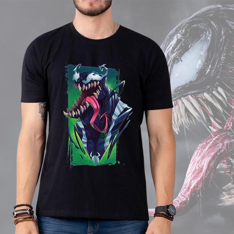Camiseta Masculina Unissex Venom Spider-Man Demônio Quadrinhos: Marvel (Preta) - EV