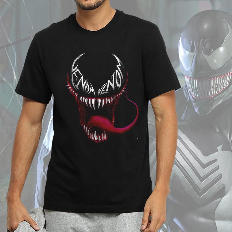 Camiseta Masculina Unissex Venon Carnificina Marvel Comics (Preta) - EV