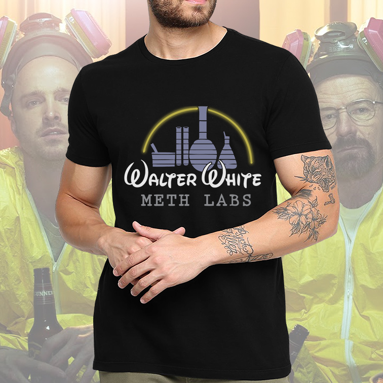 Camiseta Masculina Unissex Walter White Meth Labs Breaking Bad Disney (Preta) - EV