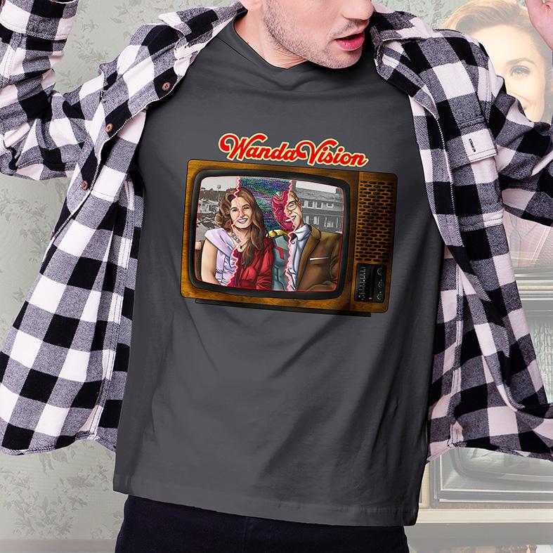 Camiseta Masculina Unissex WandaVision Marvel Television TV Disney+ (Cinza Chumbo) - EV