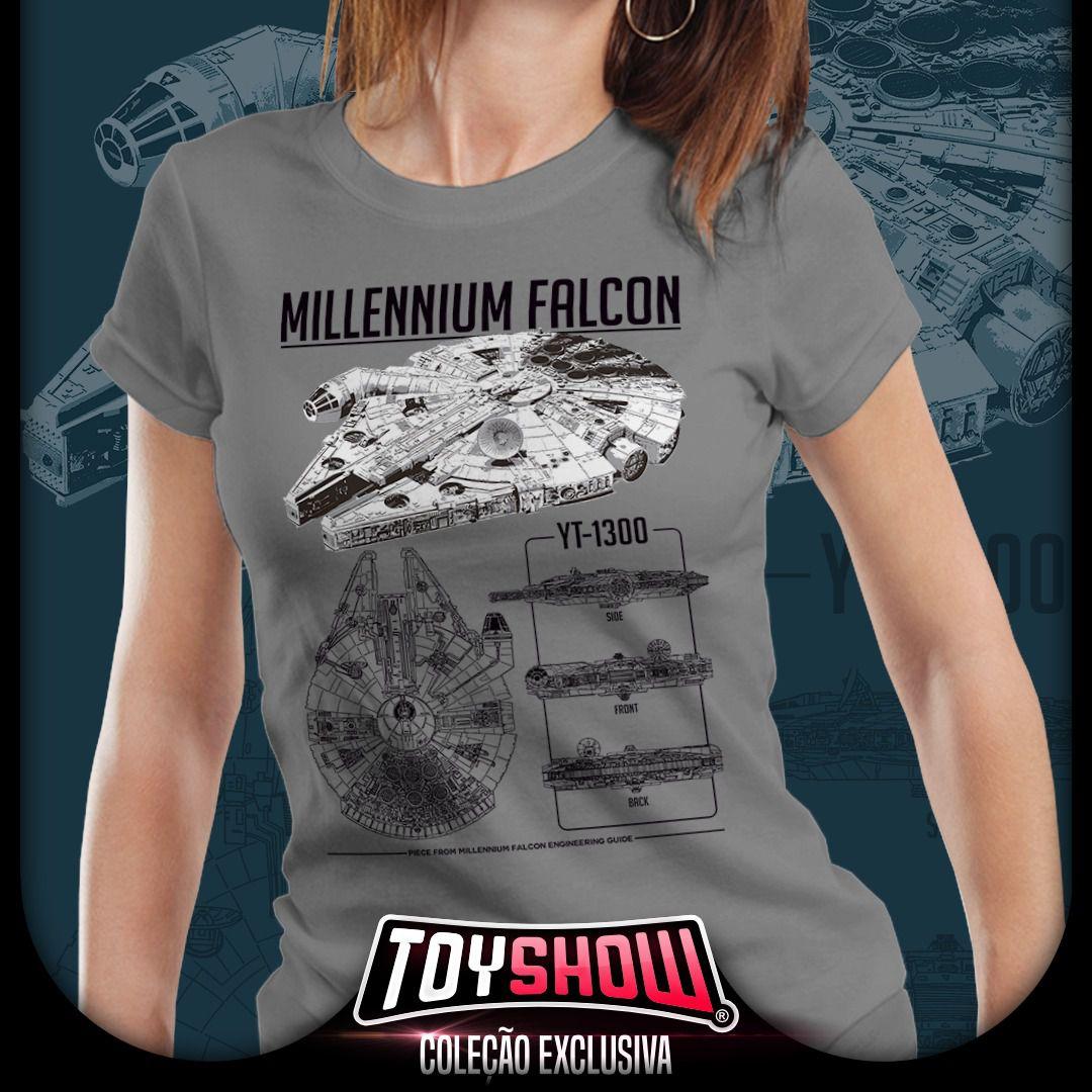 Camiseta Millenium Falcom YT-1300: Star Wars (Feminina) - Exclusiva Toyshow