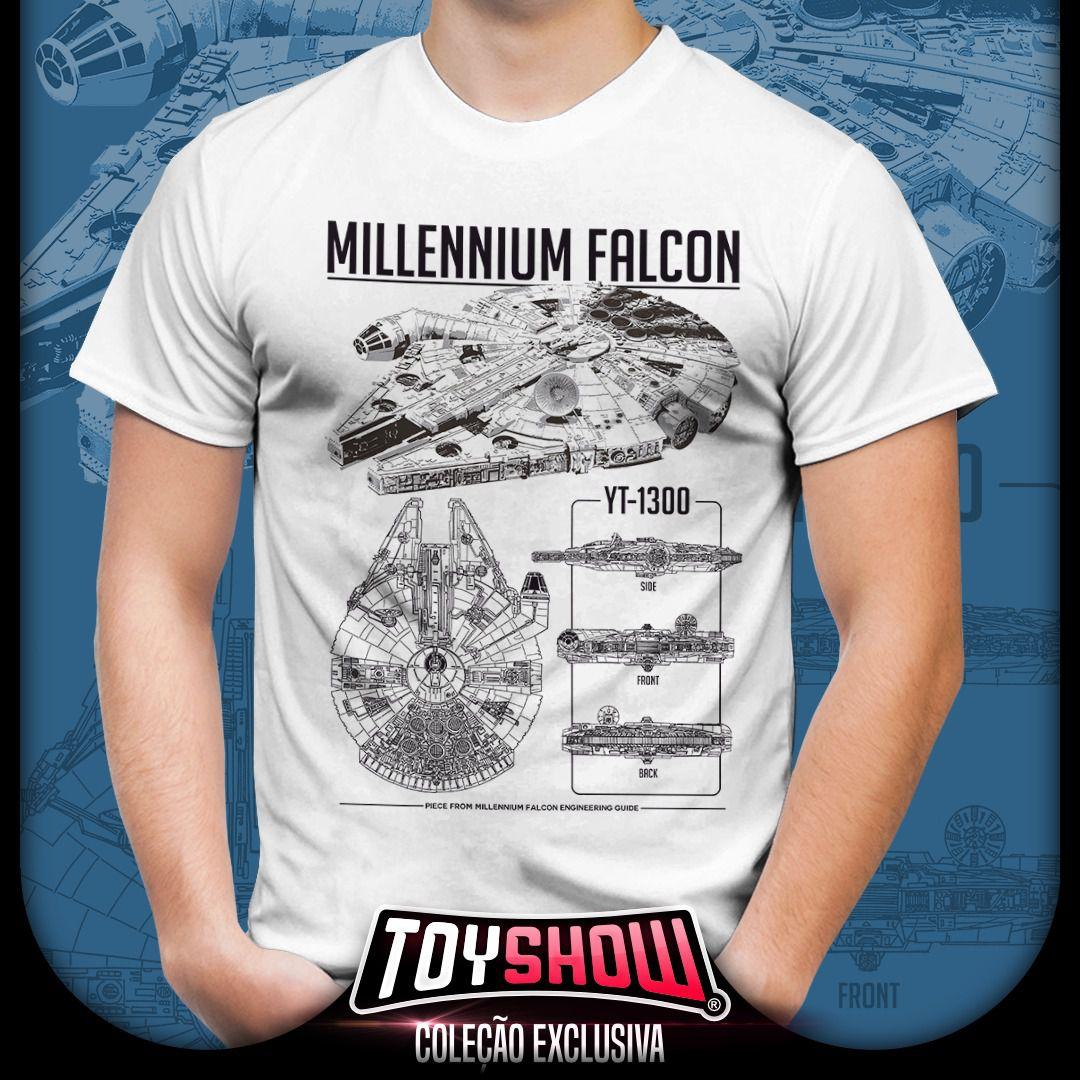 Camiseta Unissex Millennium Falcon YT-1300: Star Wars - Exclusiva Toyshow