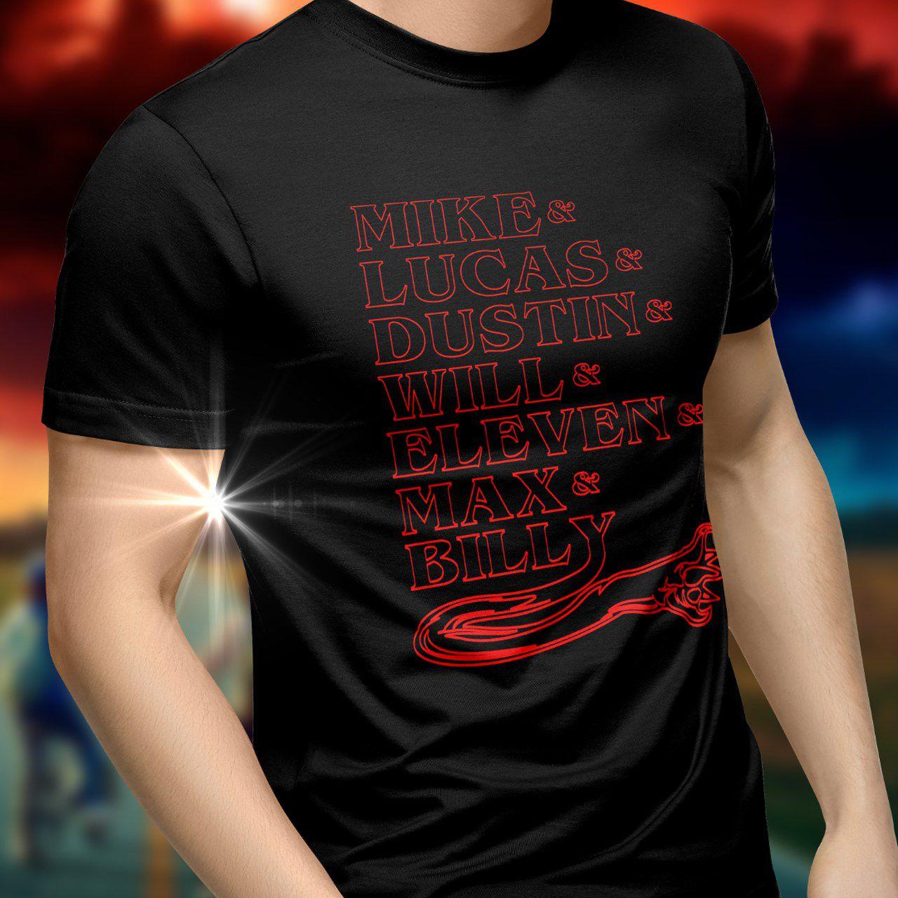 Camiseta Nomes Stranger Things (Vermelho) - Toy Show