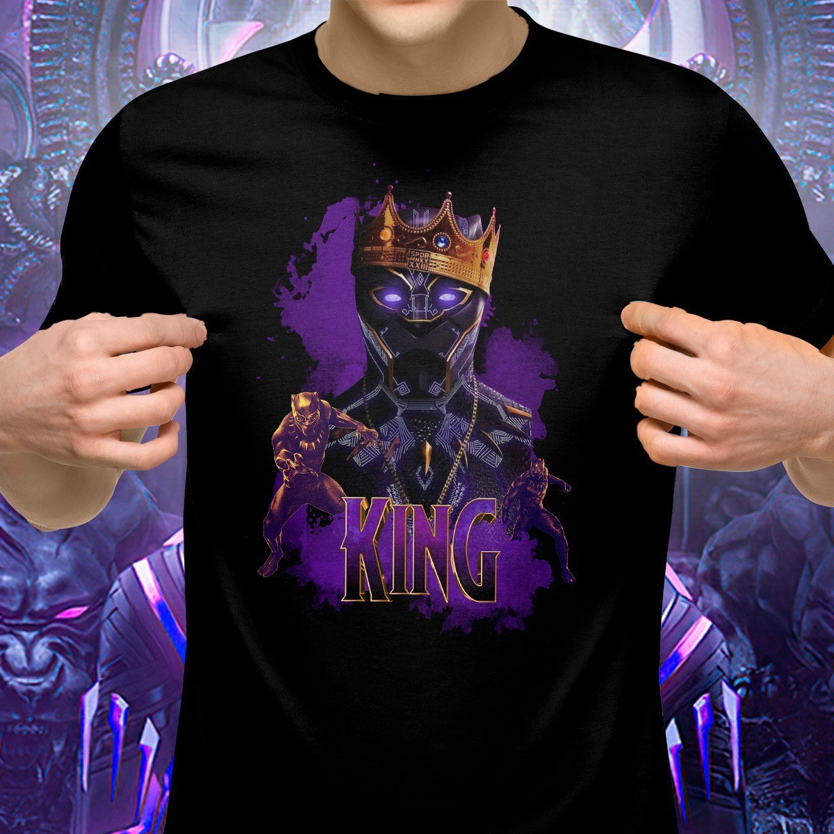 Camiseta Pantera Negra (Black Panther): Marvel