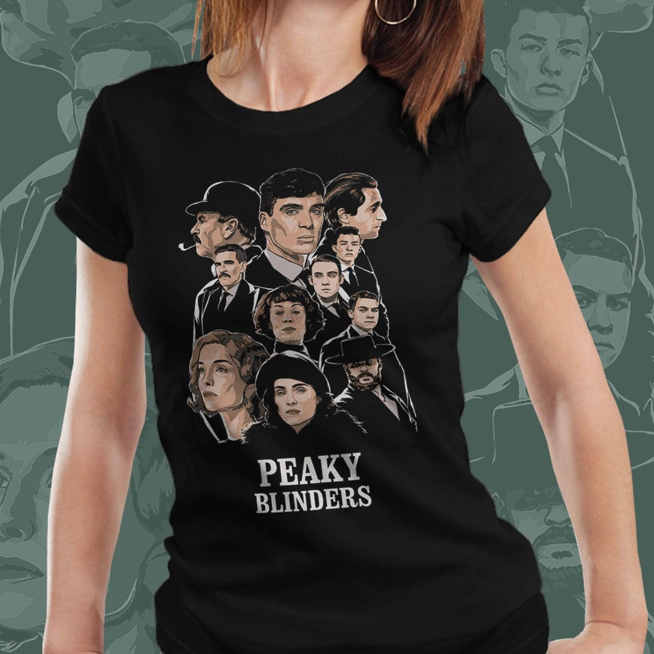 Camiseta Feminina: Peaky Blinders ( Personagens )
