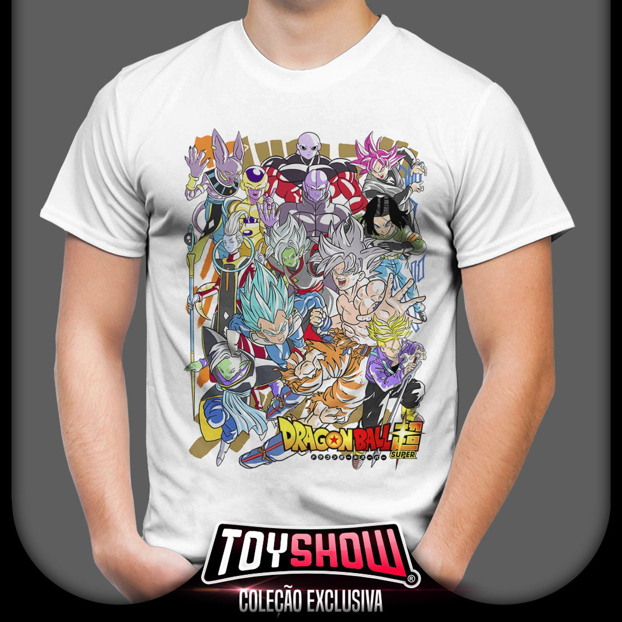 Camiseta Unissex Personagens Dragon Ball Super - Exclusiva Toyshow - EV - Anime Mangá
