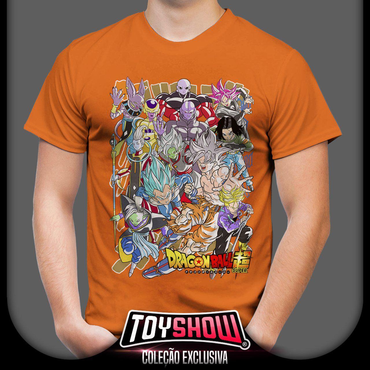 Camiseta Personagens Dragon Ball Super - Exclusiva Toyshow (Laranja) - Ev - Anime Mangá