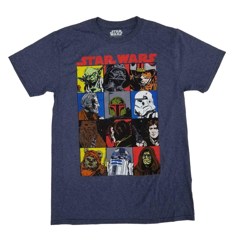 Camiseta Personagens Star Wars (Cinza)
